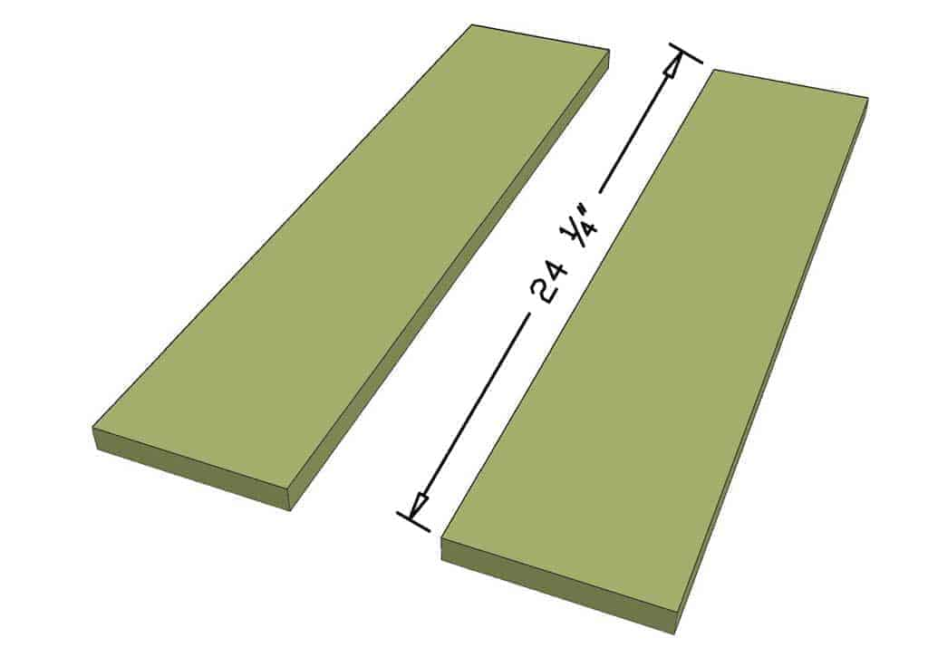 Cut end boards for the sandbox