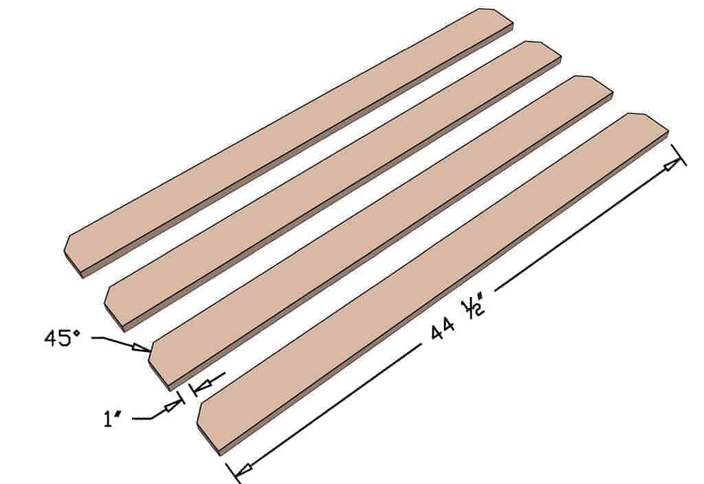 cutting seat boards for DIY Sandbox table