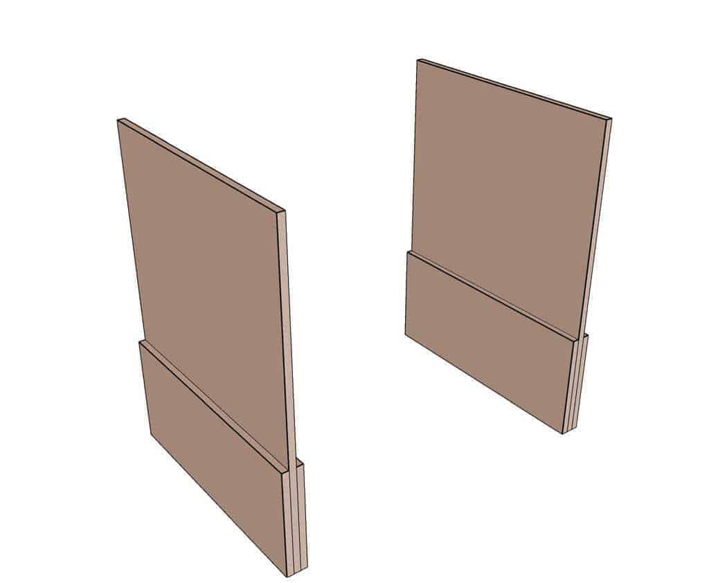 glue shelf board supports