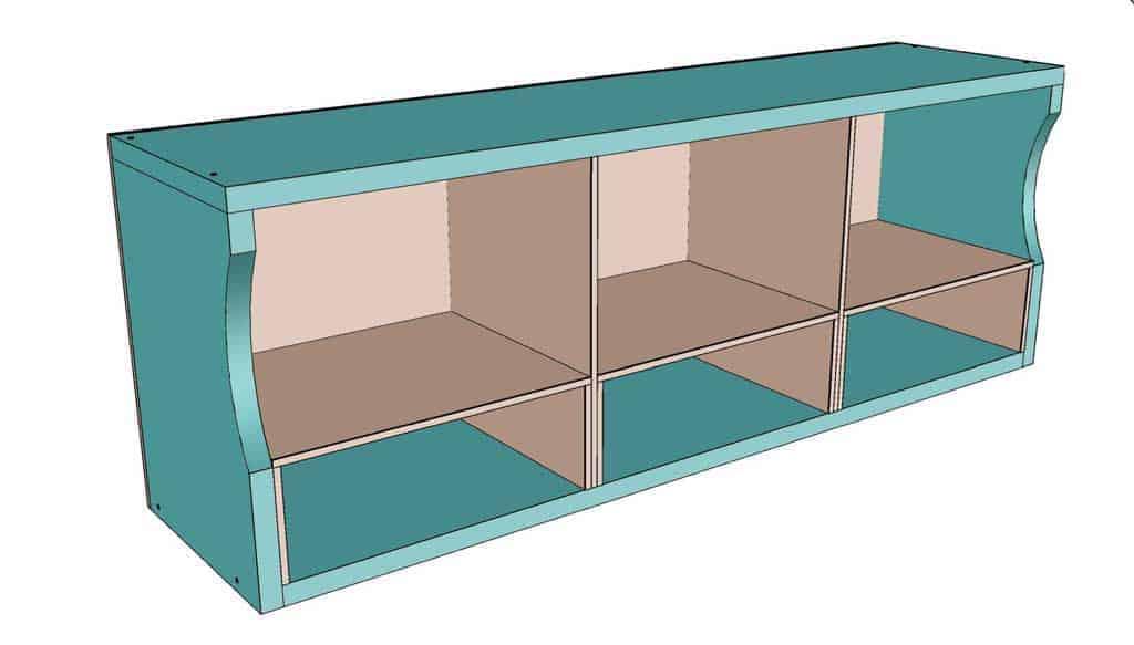 insert shelf boards into the shelf