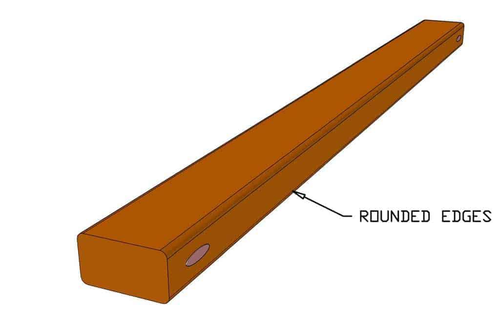 rounding edges for handrails