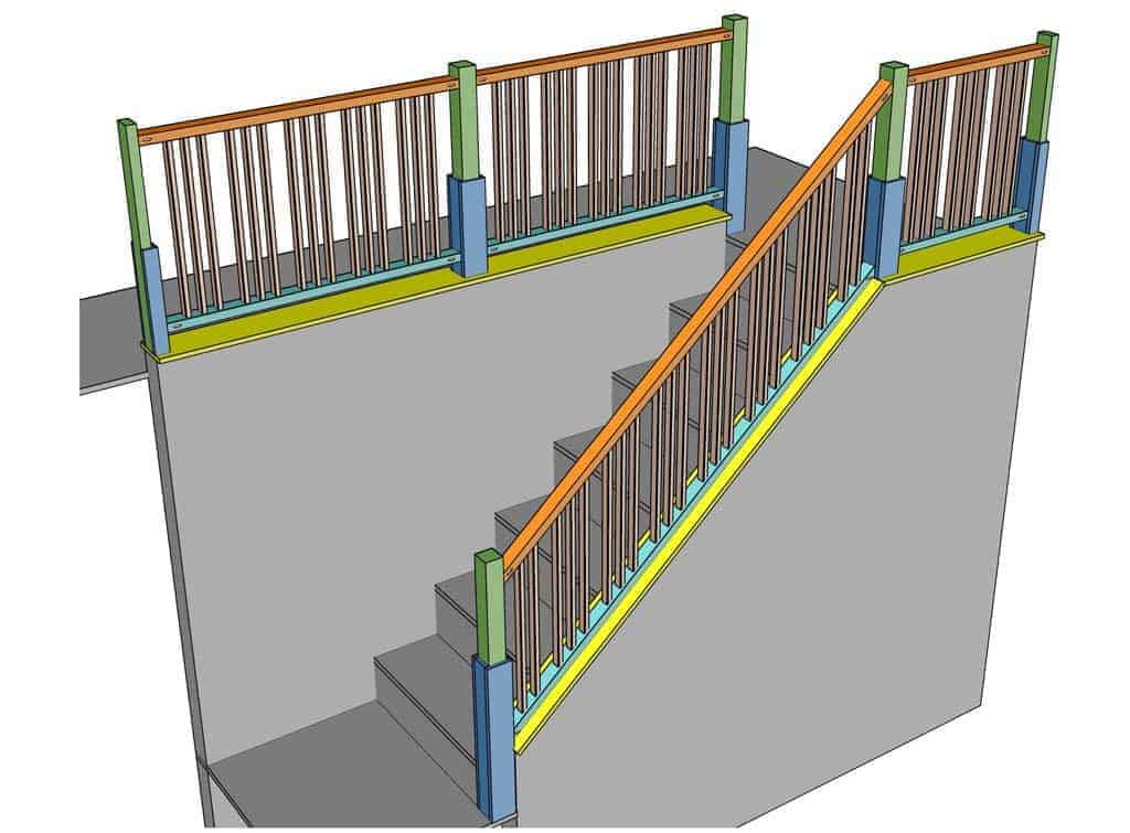 diy staircase railing