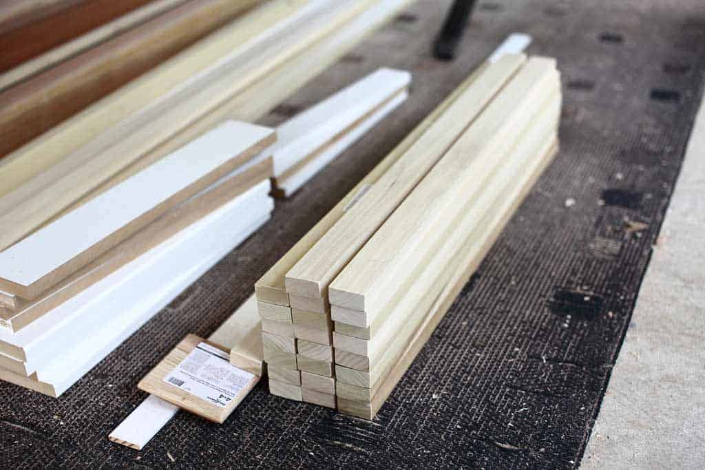 cut balusters for diy staircase railing