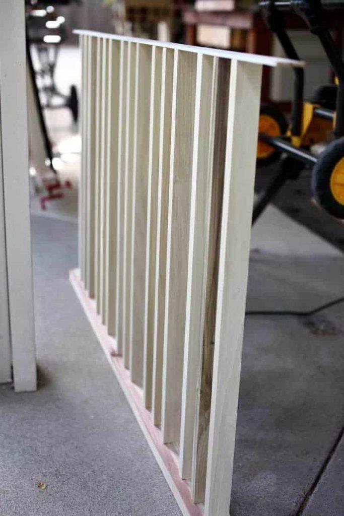horizontal stair panel