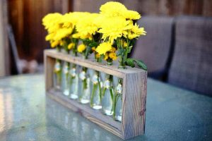 DIY wood table centerpiece