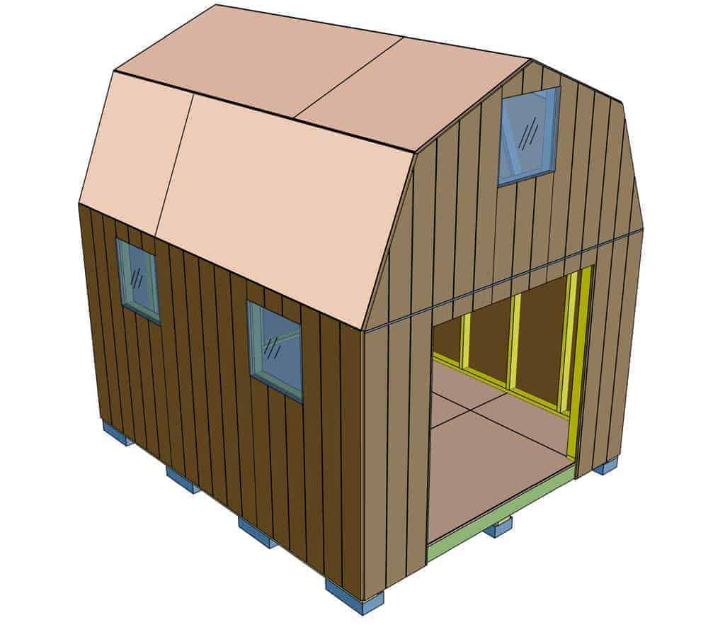 covering shed with siding plywood