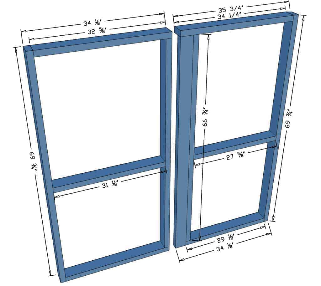 making a frame for double doors of a shed