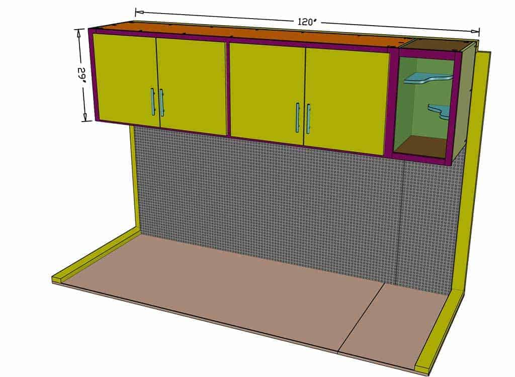 DIY shed Cabinets with Shelves dimensions