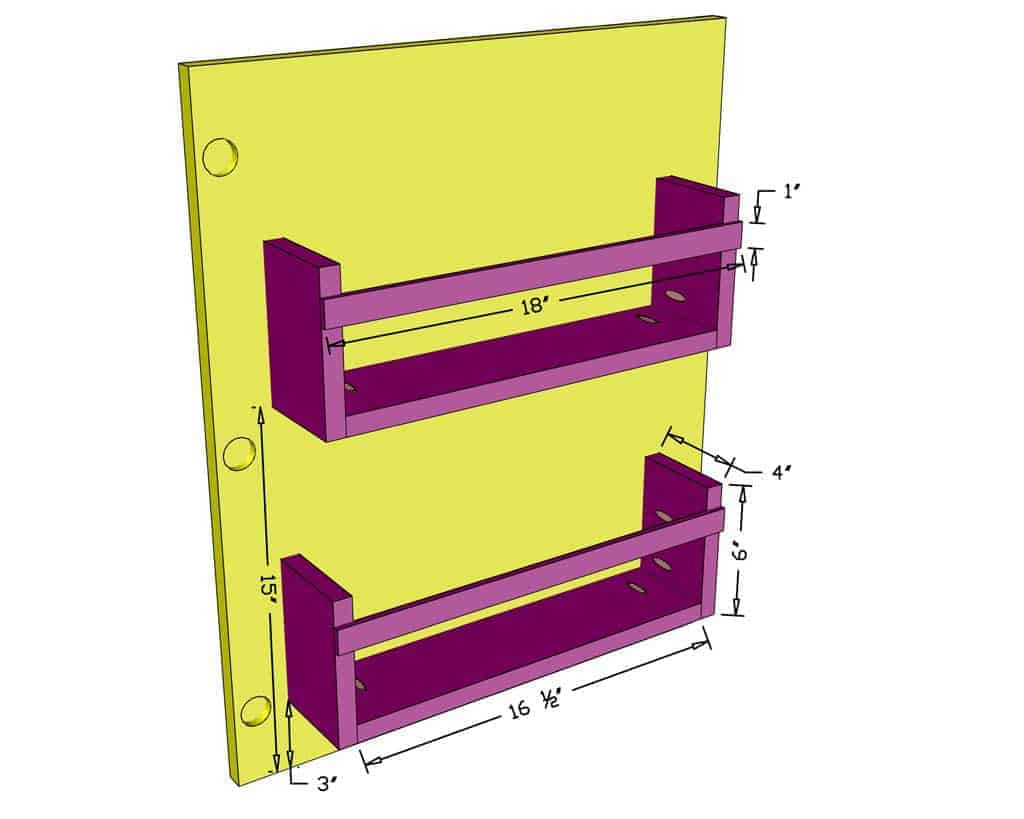 attaching cubbies to the door of cabinets