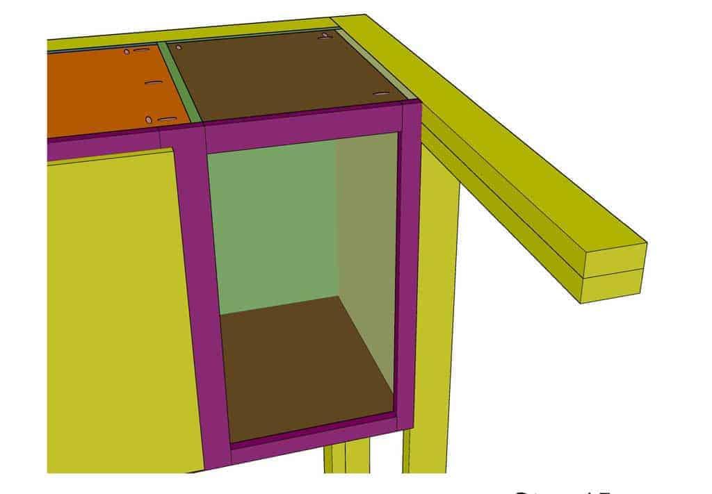 building a face frame for shellf