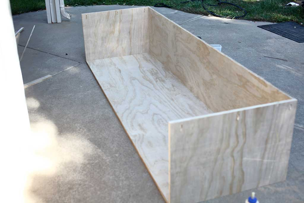 building a fame for cabinets