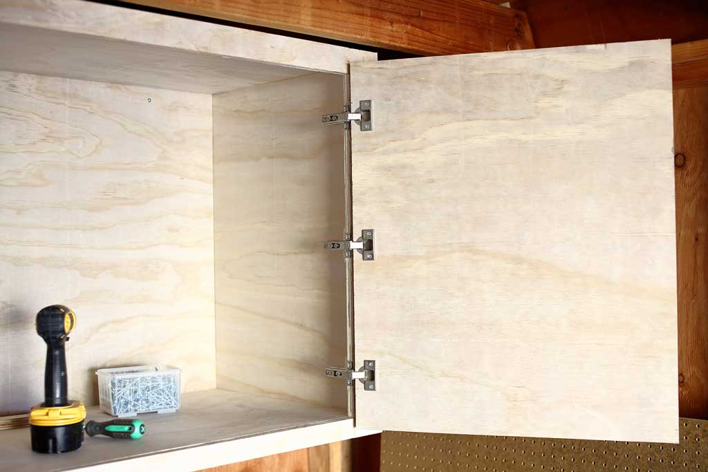 attaching the doors to the cabinets