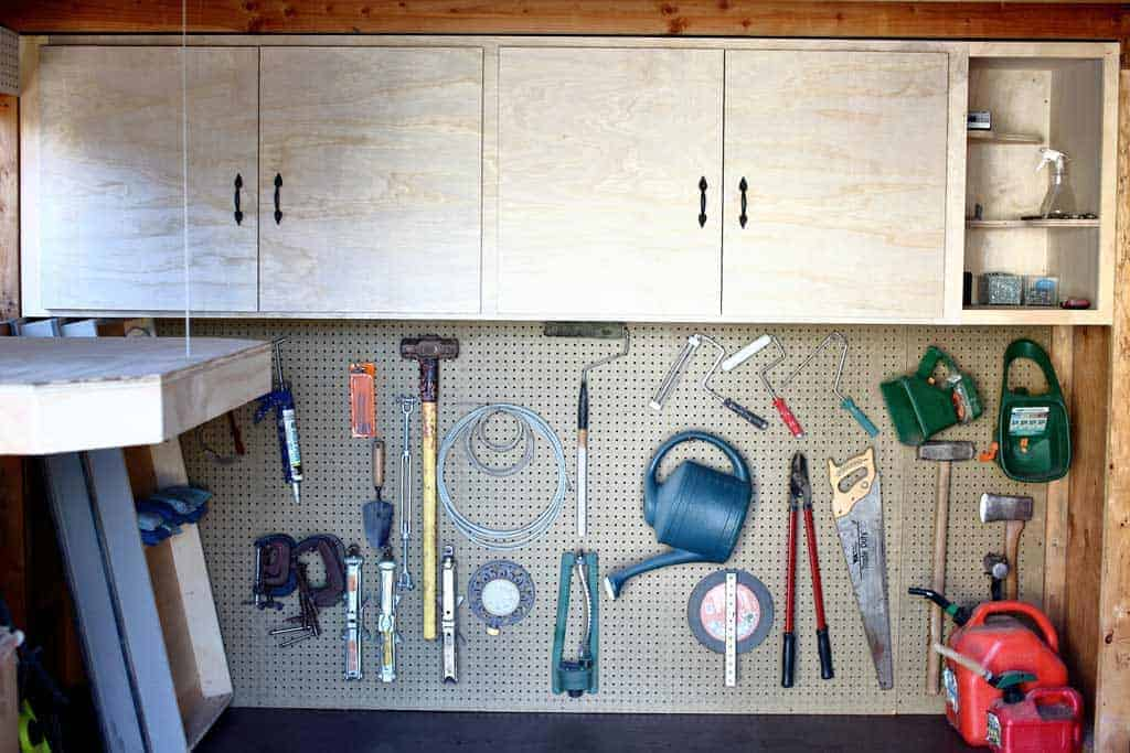 DIY shed Cabinets with Shelves