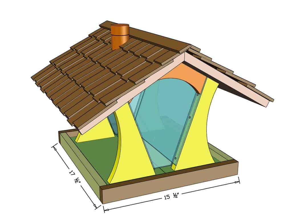 DIY bird feeder house dimensions