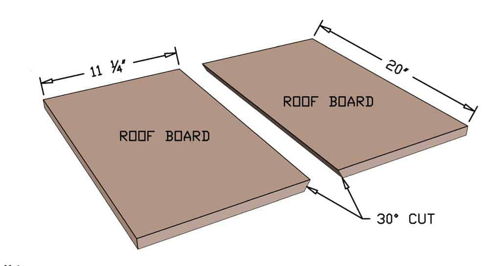 roof boards for the DIY bird feeder