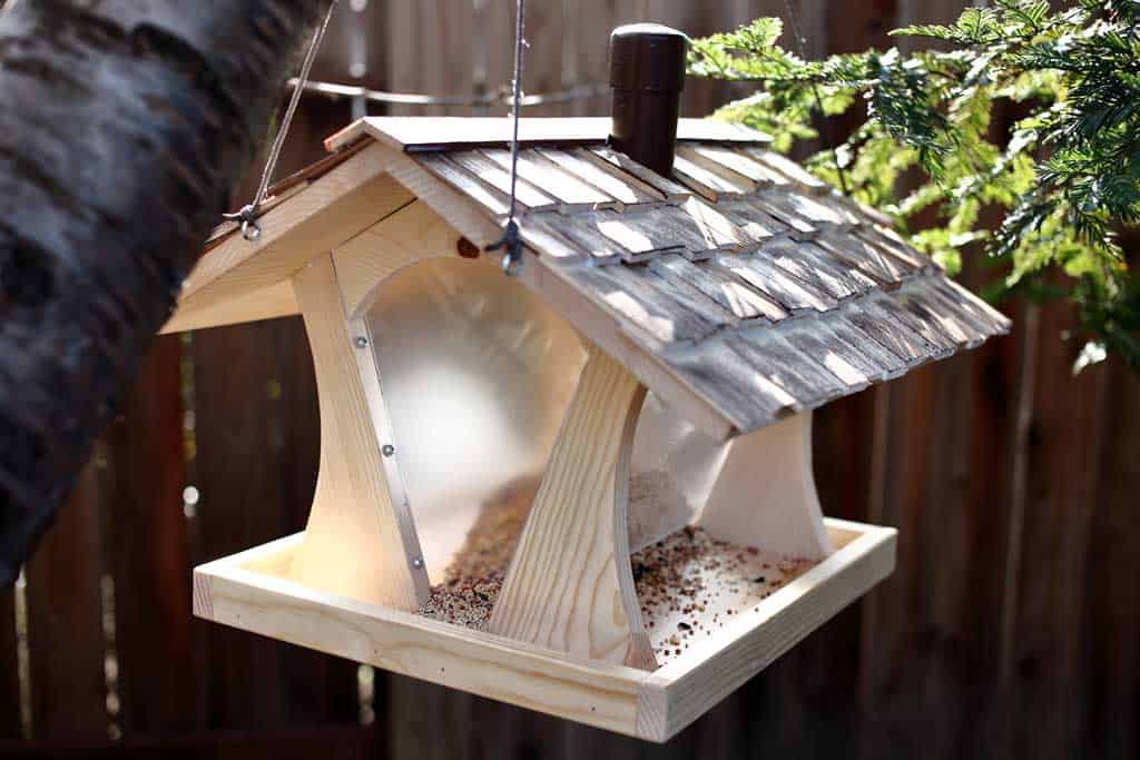 DIY bird feeder house