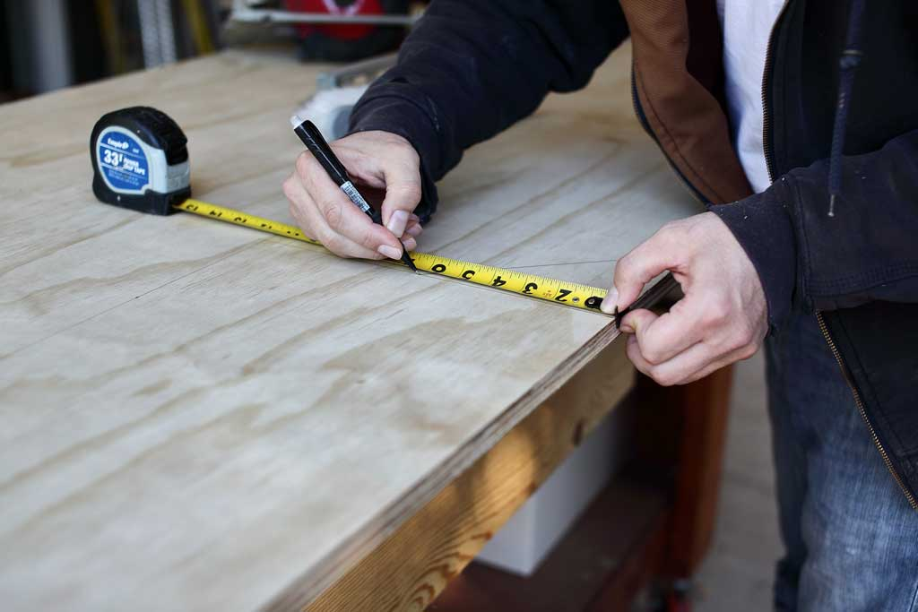 pulling measurement on plywood