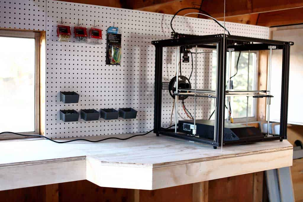 diy shelf for a 3D printer