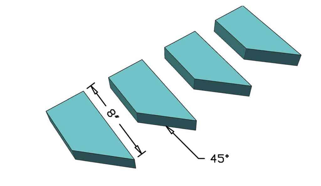 support blocks for ladder rails