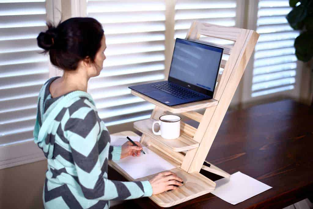 DIY laptop adjustable stand