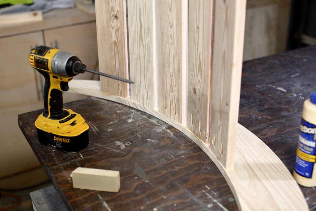 attaching 1x4 boards to rocker boards