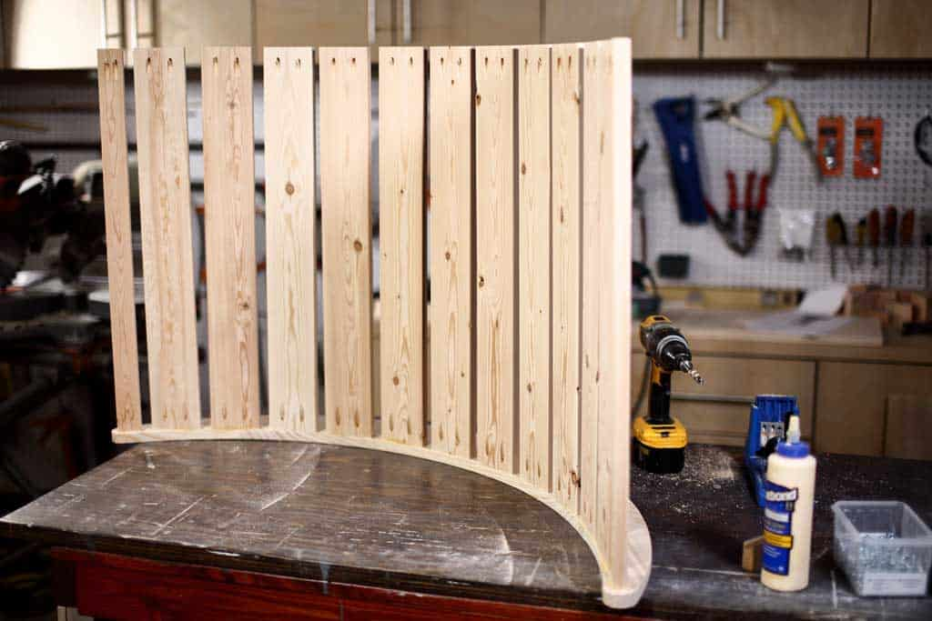 attaching 1x4 boards to rocker pieces