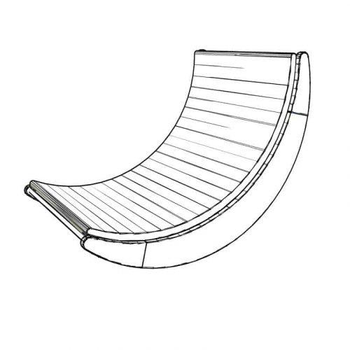 DIY floor rocking chair