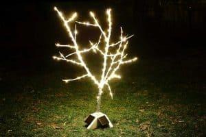 DIY Fairy Tree with Christmas lights
