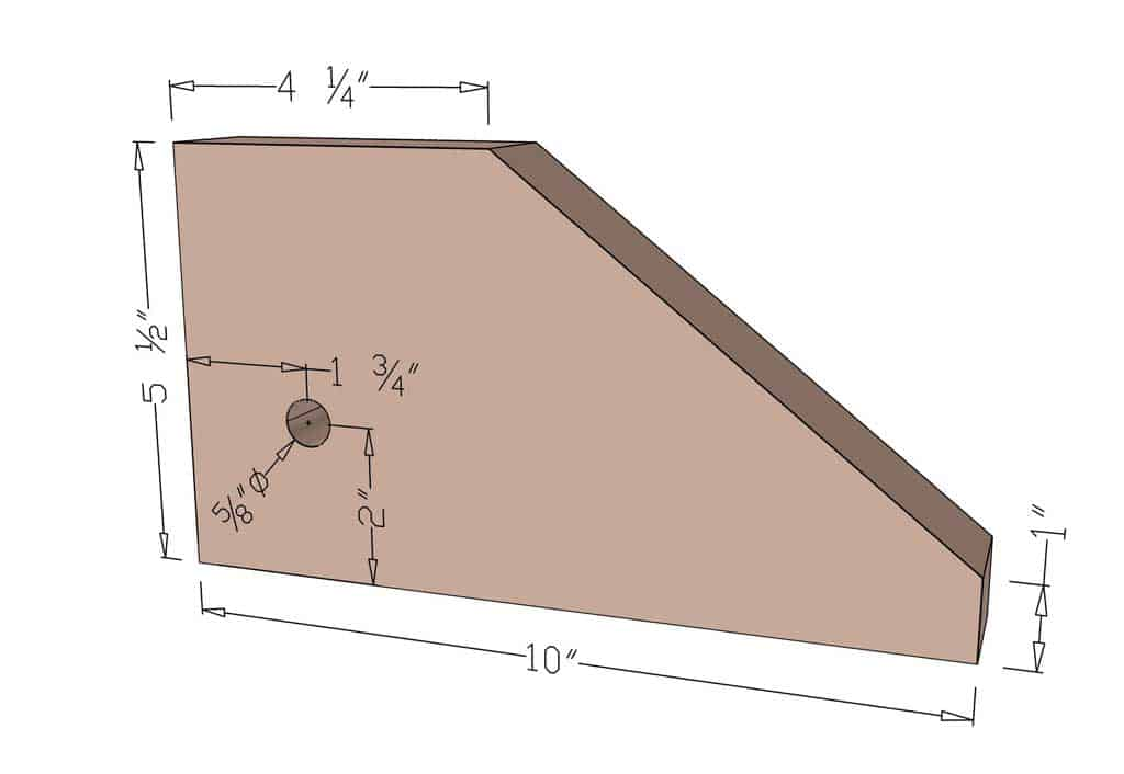 measurements of the base for the fairy tree