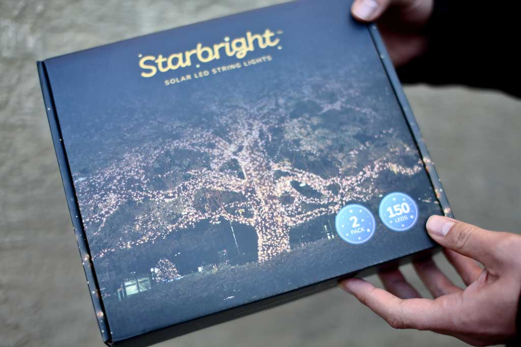 Starbright string lights with solar panel