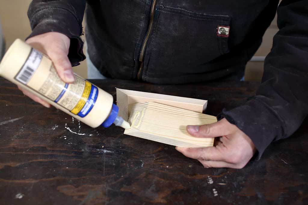 gluing wood boards together