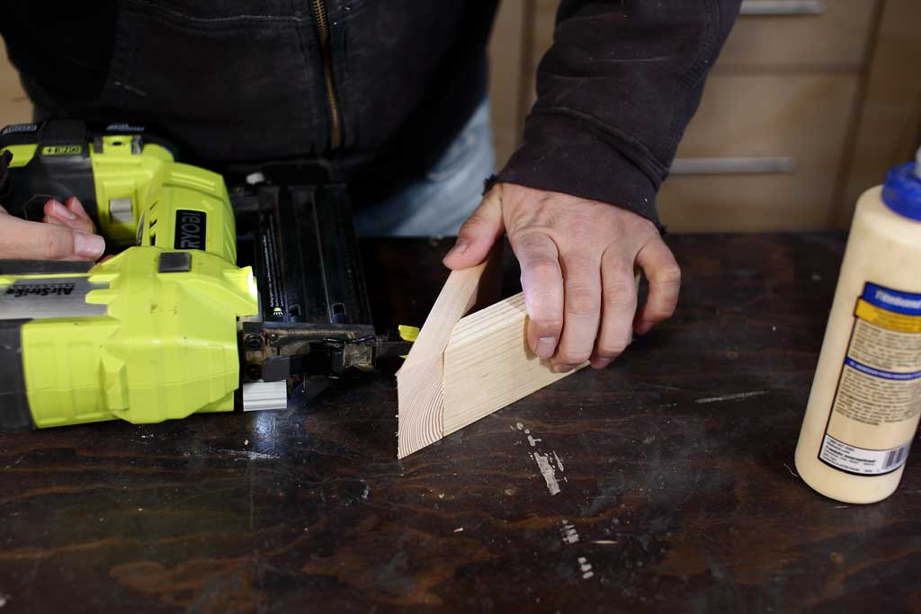 using nail gun to attach side boards together