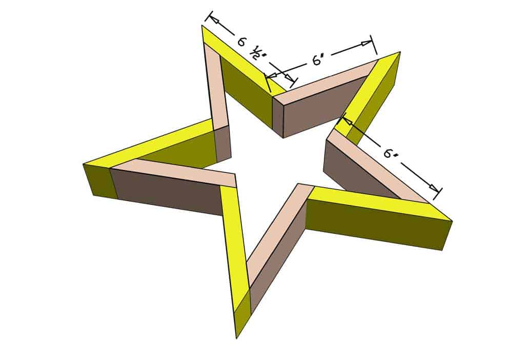 dimensions for the star planter