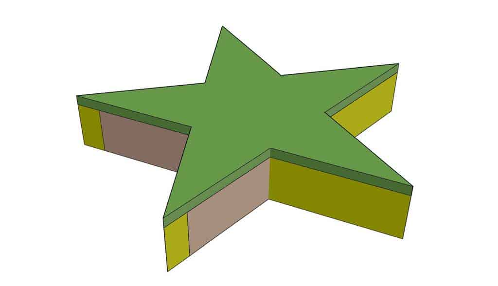 attaching plywood to the star