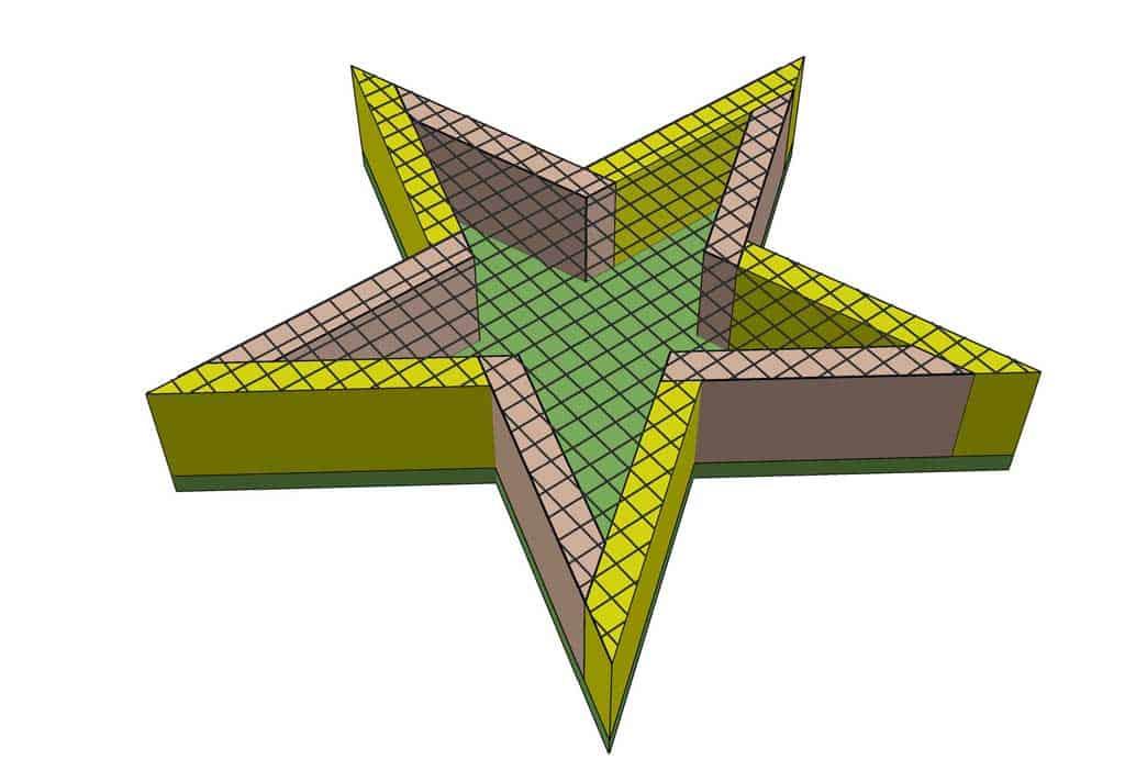 attaching mesh screen to star planter