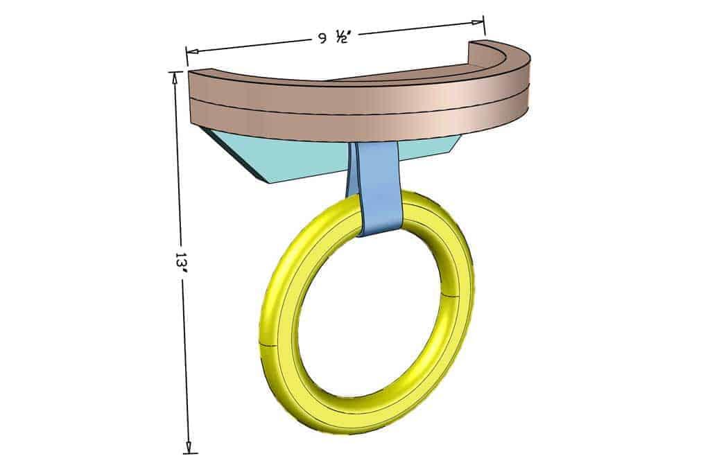 DIY towel holder ring dimensions