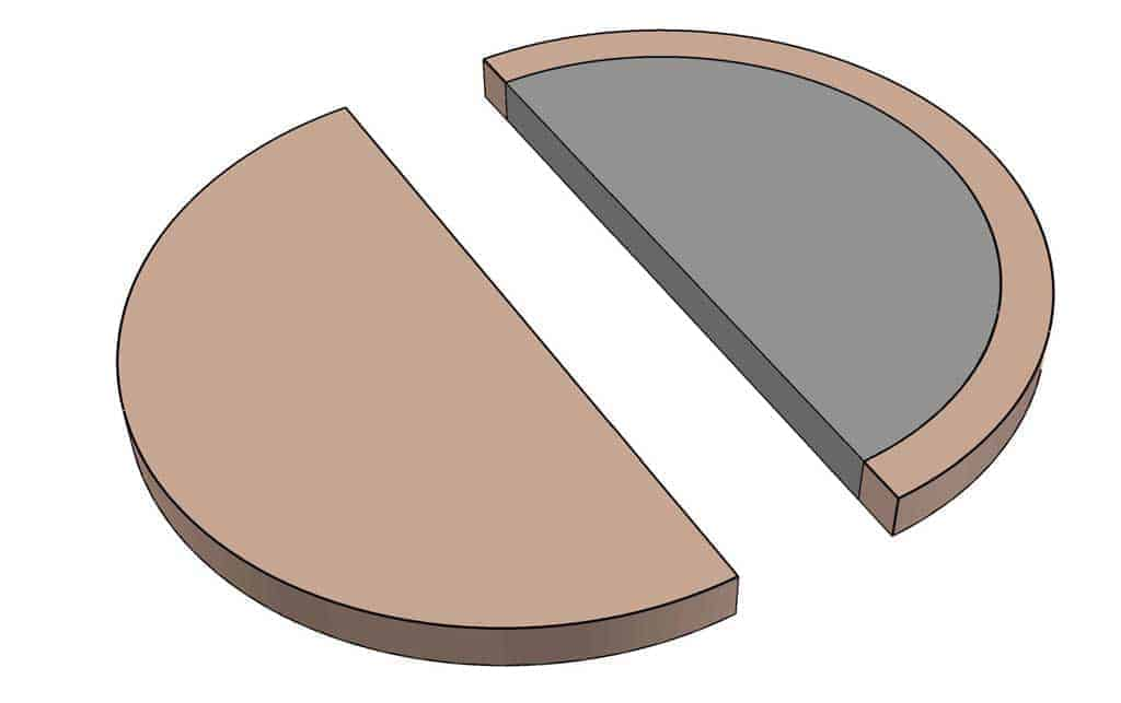cutting out circle for DIY towel holder ring