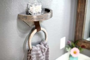 DIY wood towel holder ring