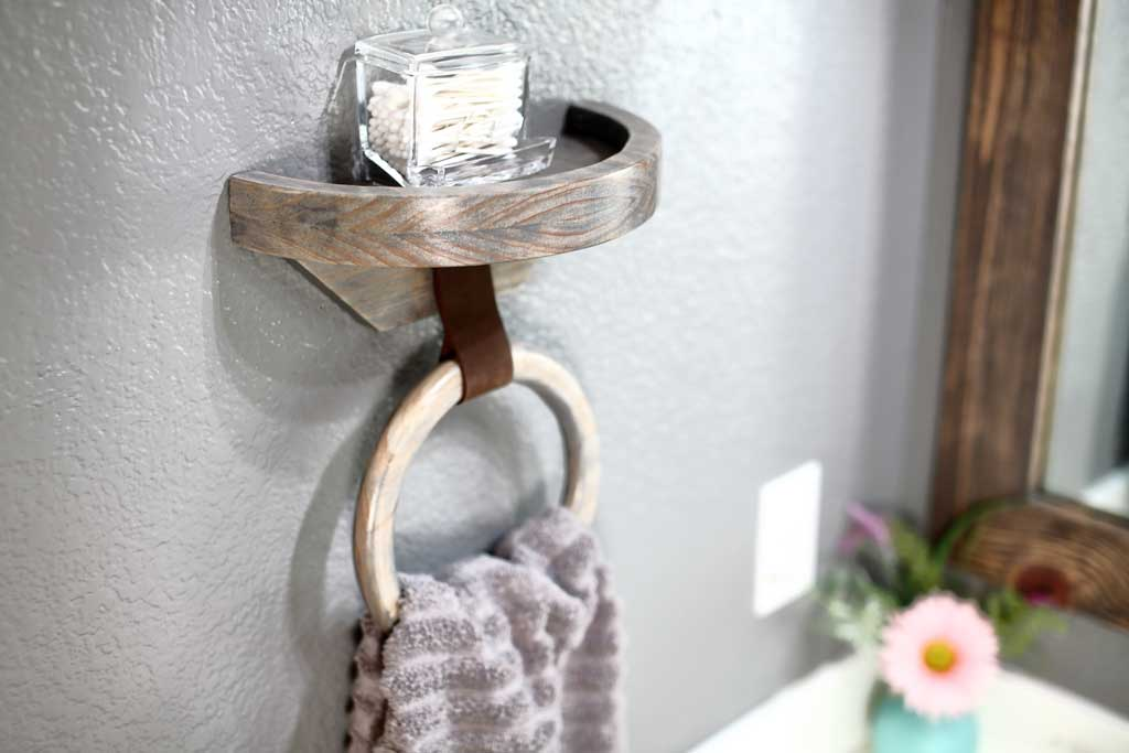 DIY wood towel holder ring