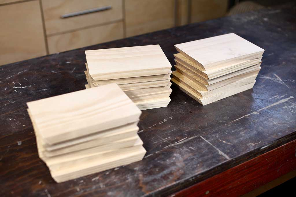 boards for the DIY honeycomb wall shelf
