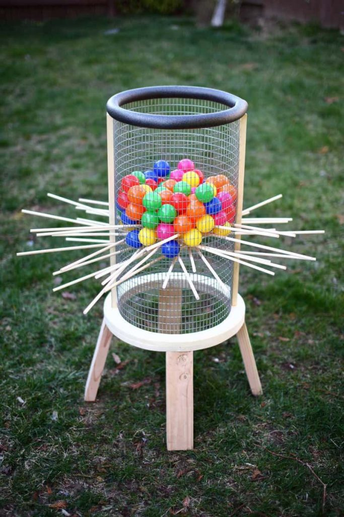 giant DIY kerplunk game