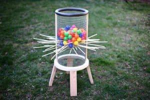 giant DIY kerplunk game
