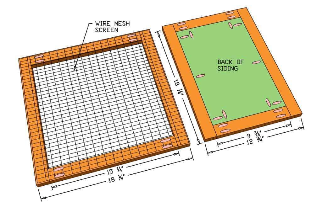 building door for DIY rabbit hutch