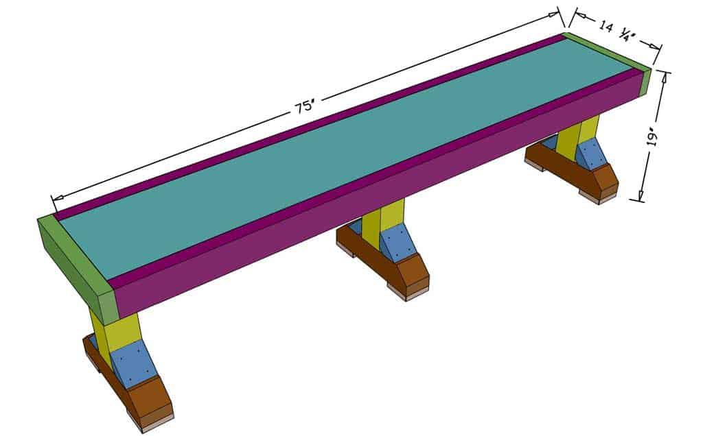 diy farmhouse bench dimensions