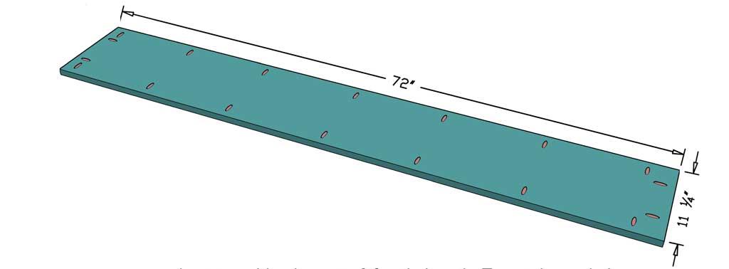 cut top board to 6 feet