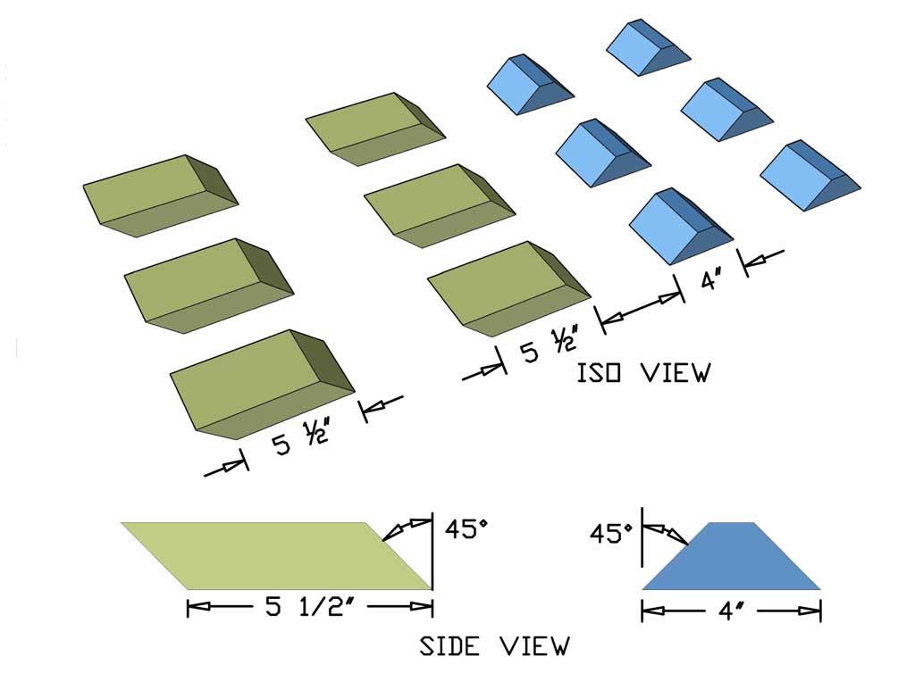 cutting diagonal boards of the diy farmhouse bench