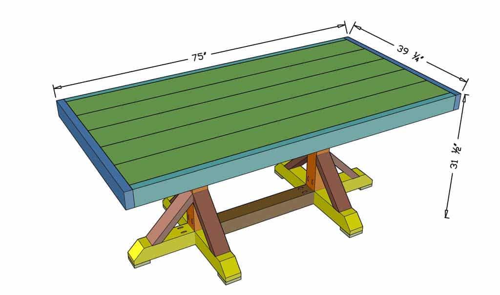 DIY Farmhouse Dining Table Dimensions