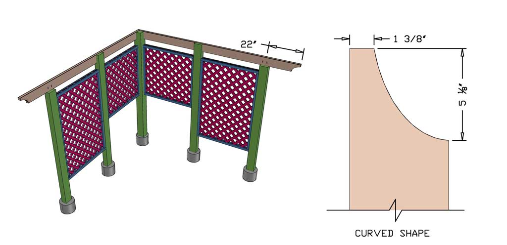 installing roof boards for the DIY Garden Arbor with a Bench