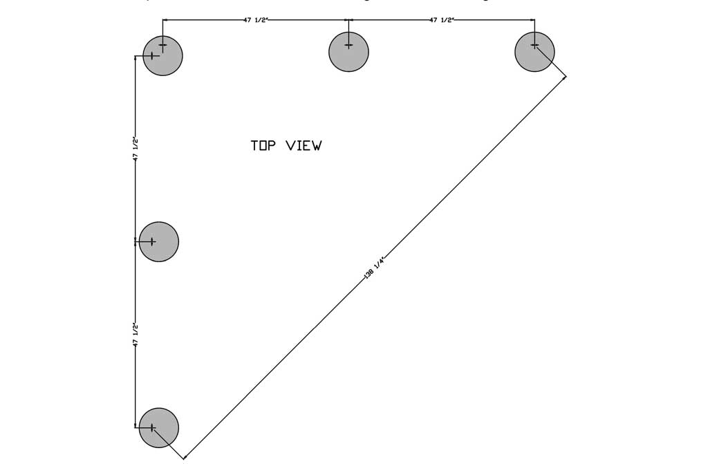 concrete footings dimensions for DIY Garden Arbor with a Bench
