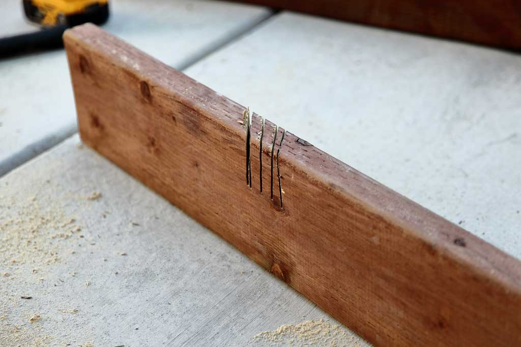 cutting notches in wood